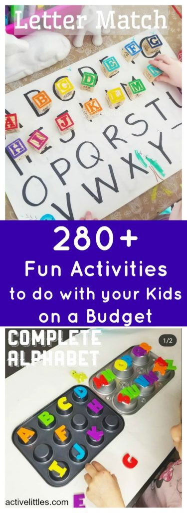 At Home Kids Activities on a Budget