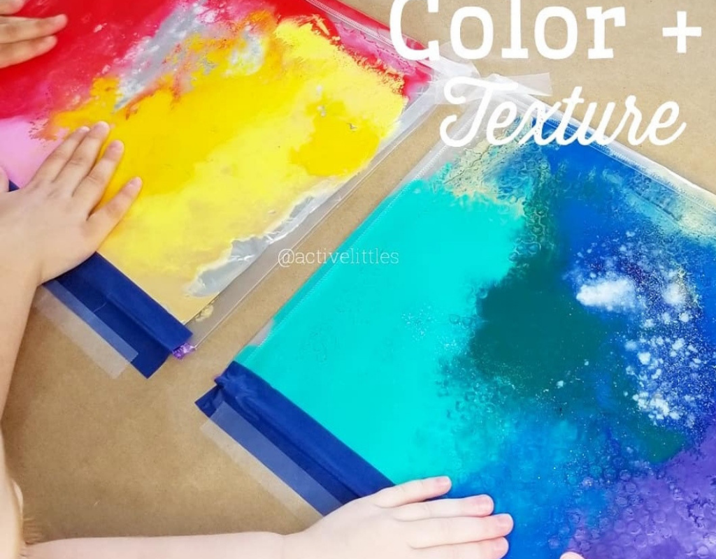 Make A Super Easy Squishy Paint Filled Colored Textured Sensory Bag With Your Kids Active Littles