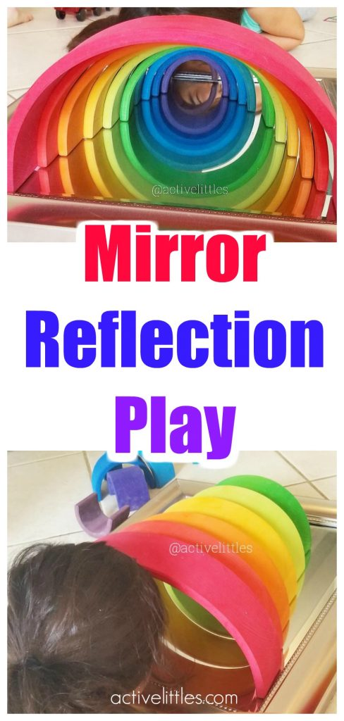 Reflection Mirror Play for Preschoolers Kids
