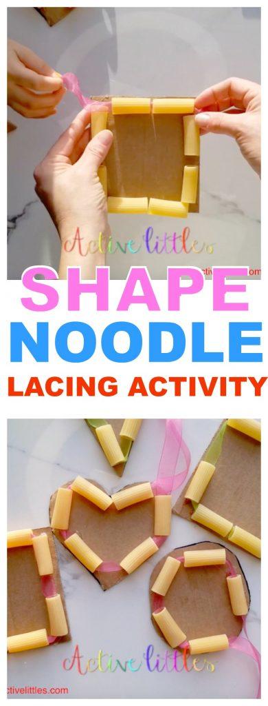 DIY Shape Noodle Lacing Threading Activity