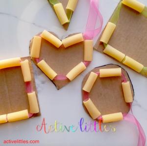 Shape Noodle Threading DIY for Kids