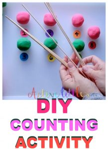 DIY Counting Activity for Toddlers