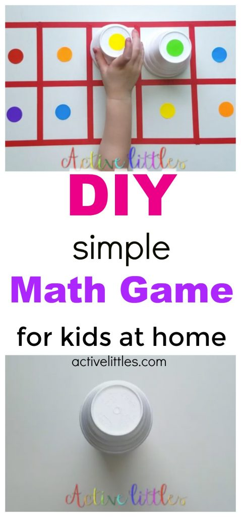 5 Fun Simple DIY Math Games for Kids at home - Active Littles