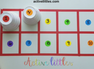DIY math games for early learners at home