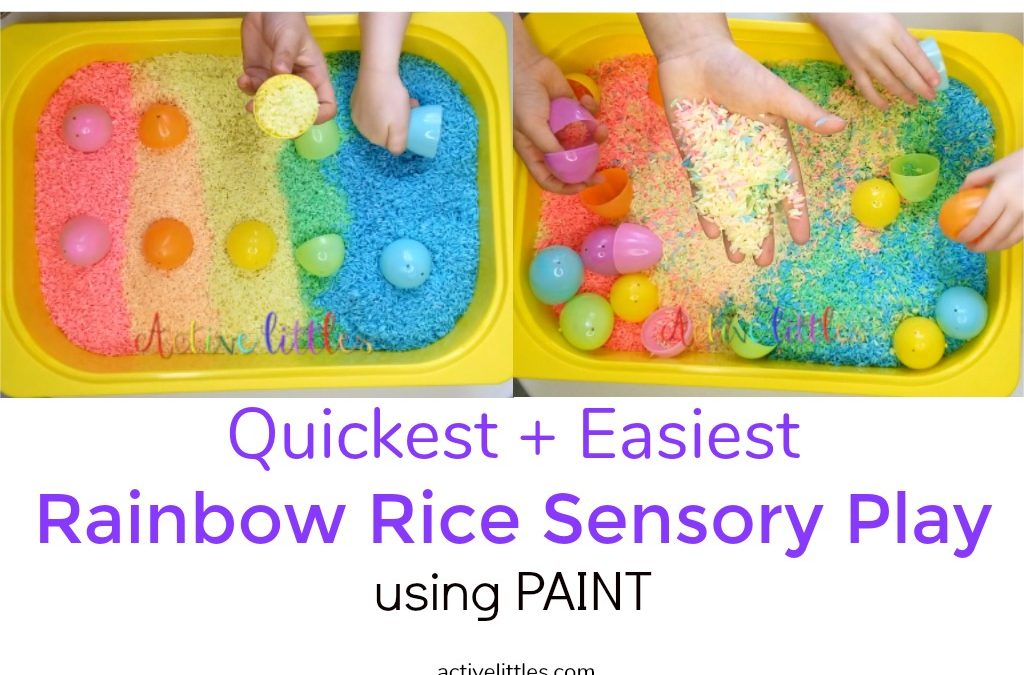 Quickest Way to Dye Rainbow Rice for Sensory Play