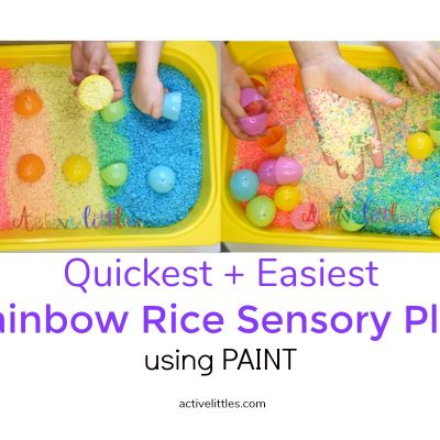 How to make rainbow rice using paint