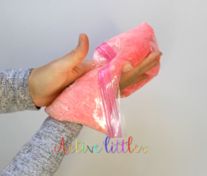 rainbow rice sensory play how to
