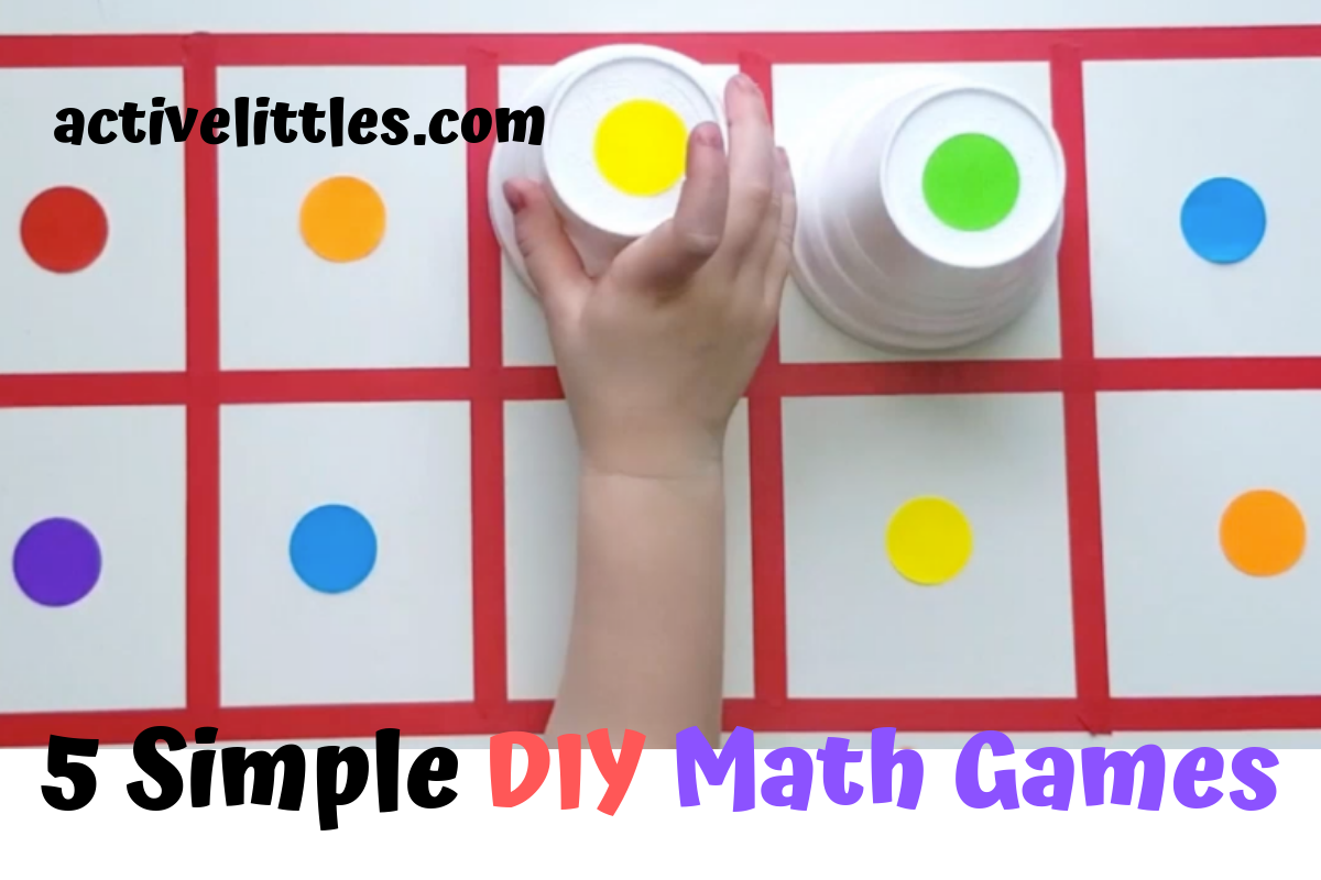 5 Fun Simple DIY Math Games for Kids at home