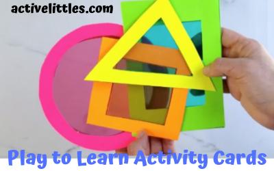 Play to Learn Preschool Shape Cards Activity