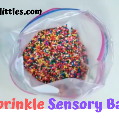 Sprinkle Sensory Bag for preschoolers