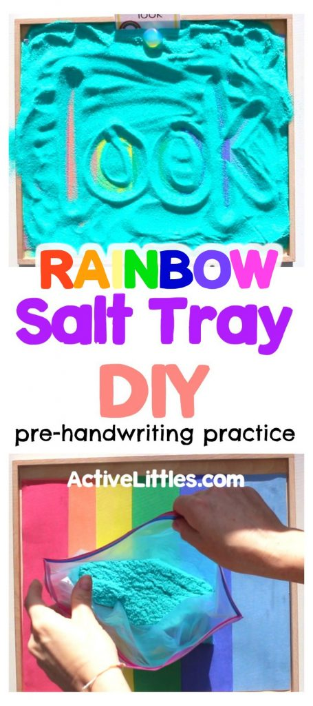 salt tray diy for handwriting practice