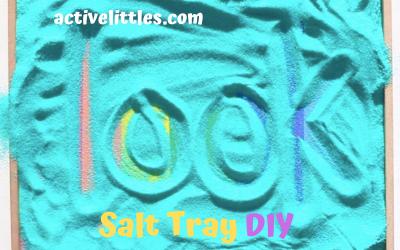 Rainbow Salt Writing Tray Activity
