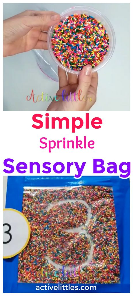 Simple Sprinkle Sensory bags for early learners