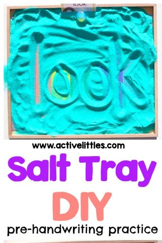 Rainbow Salt Writing Tray Activity