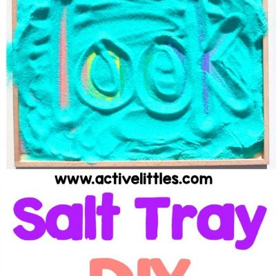 indoor activities for kids salt tray