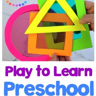play to learn preschool activity cards