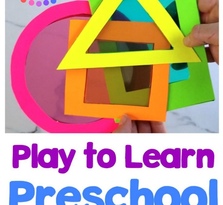 Play to Learn Preschool Shape Cards Activity