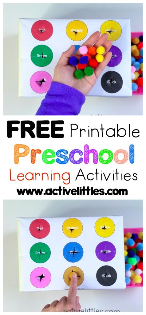 Free Learning Activities Printables for Preschoolers