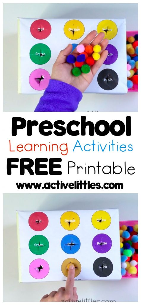 Preschool Learning Activities Free Printables for Kids