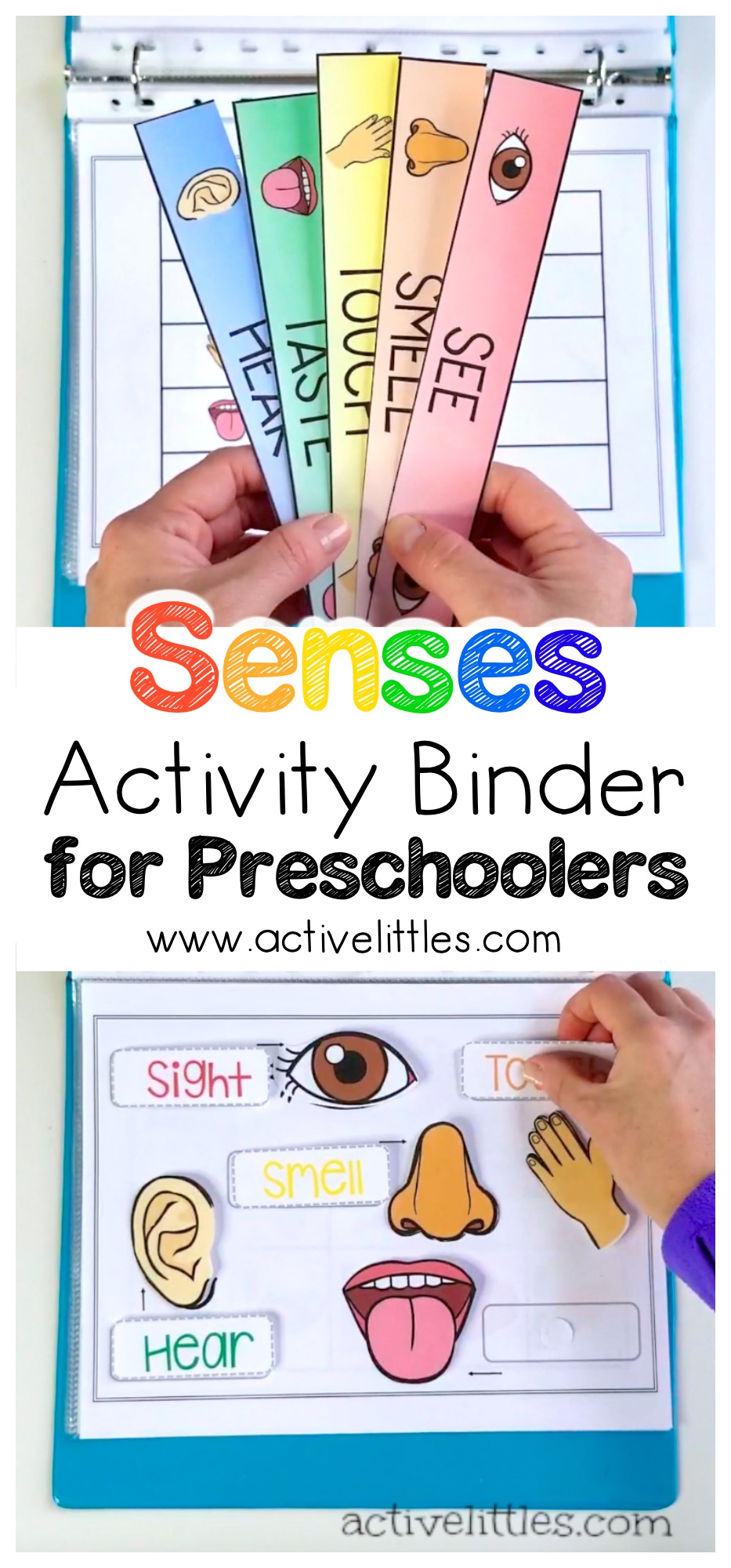 Senses Learning Activity Binder for Preschoolers and Kids ...