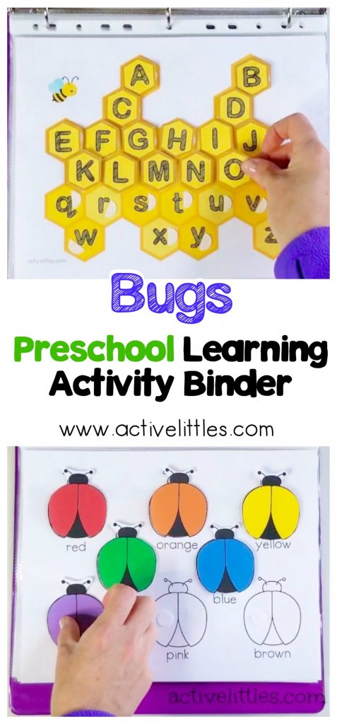 activity binder bugs