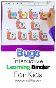 bugs interactive activity binder for kids
