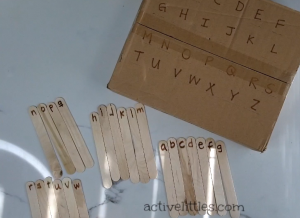 diy alphabet match for preschoolers