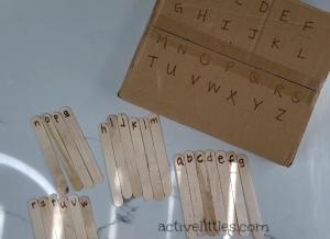 diy alphabet match for preschoolers