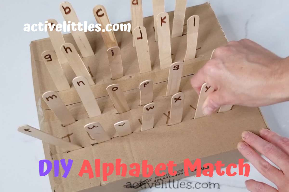 Alphabet Cardboard Box Activities For Kids
