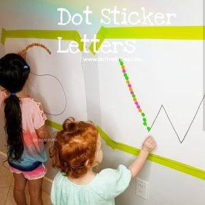 dot sticker activity for preschoolers