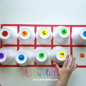 dot sticker color matching activity