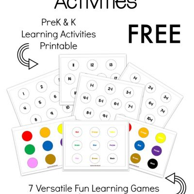 early learning activities for kids