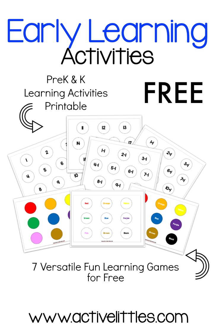 Free Printable Learning Activities for Kids - Active Littles