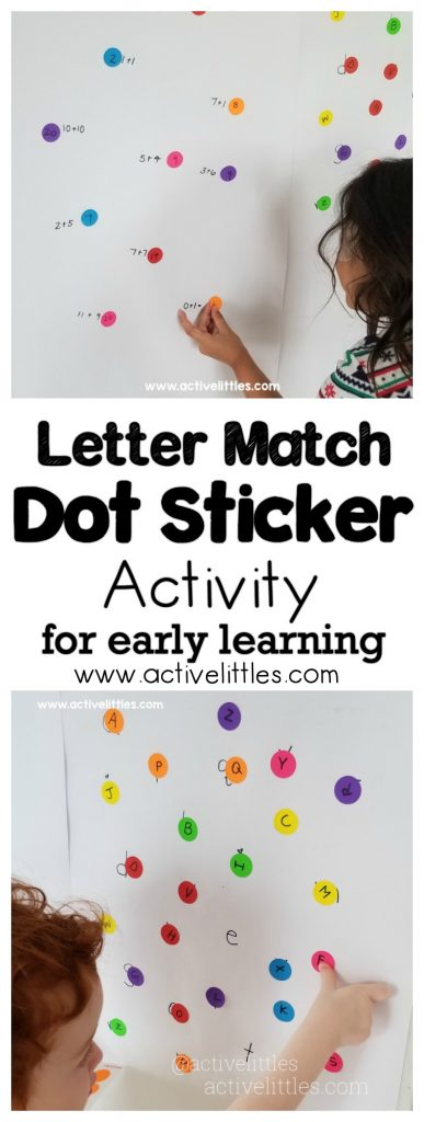 letter match dot sticker activity early learning