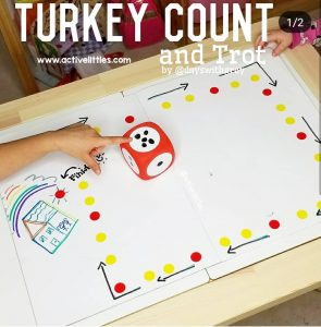 turkey trot dot sticker activity