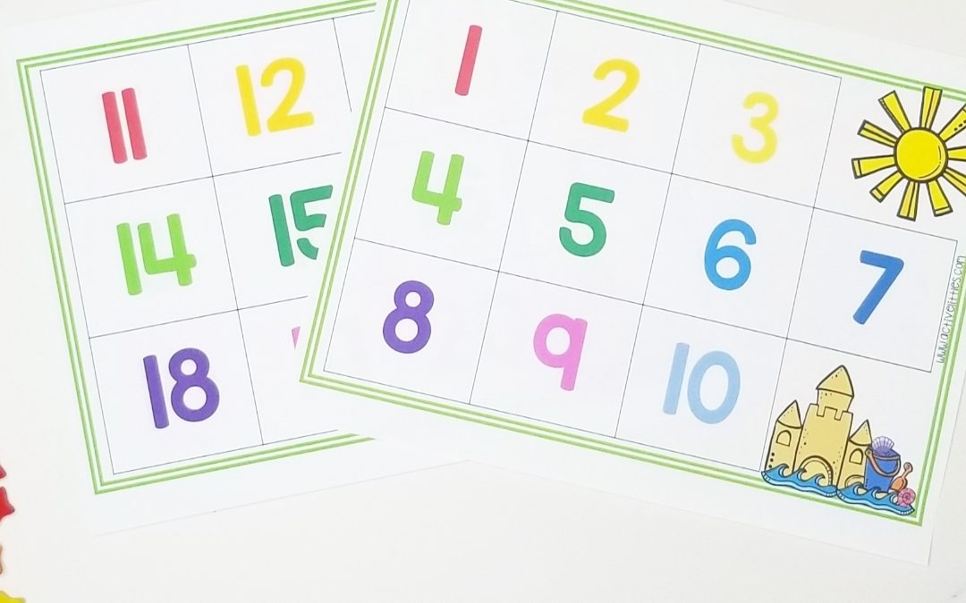 Summer Counting Mats Math Activity