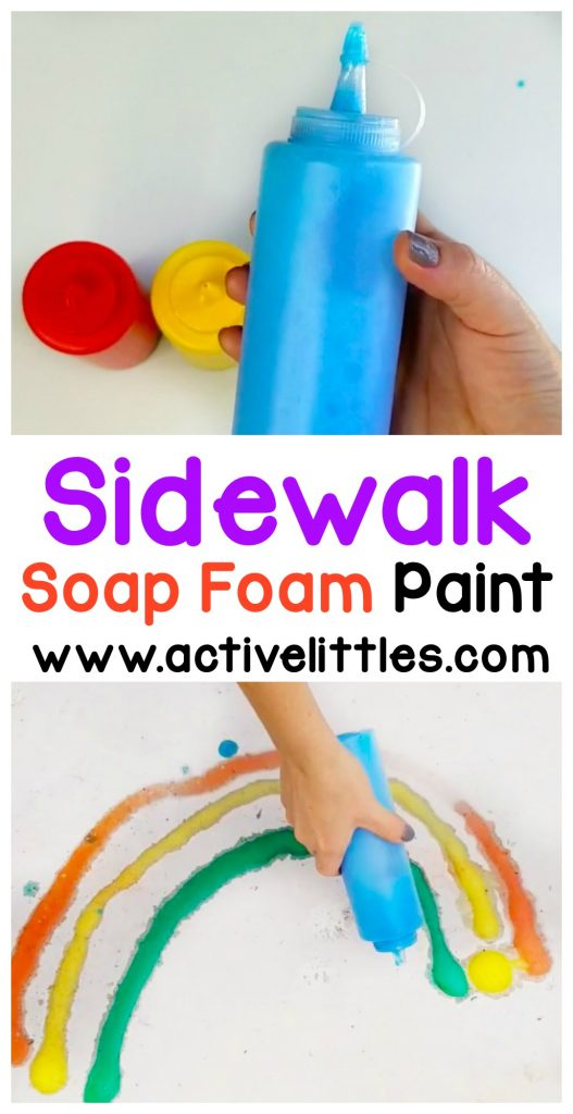 sidewalk soap foam paint