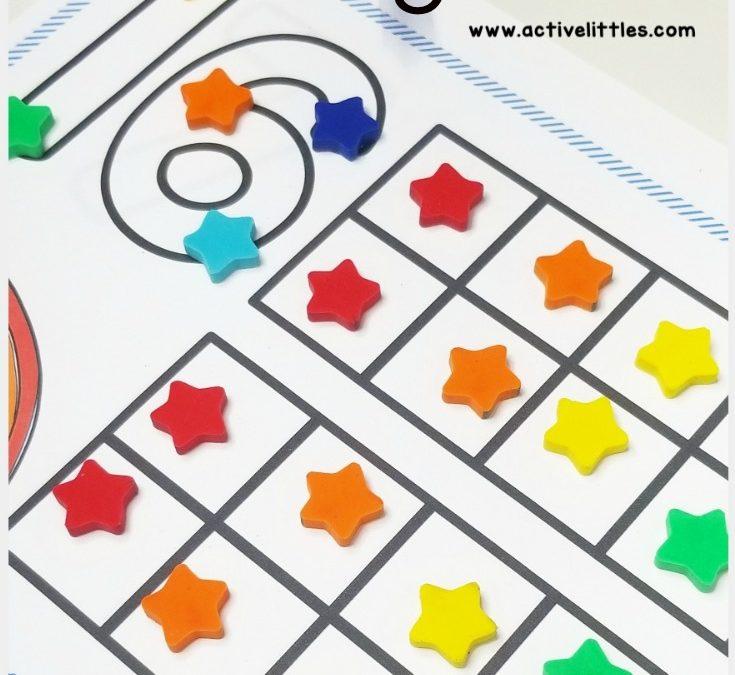 Numbers 1-20 Counting Mats for Preschool and Kindergarten