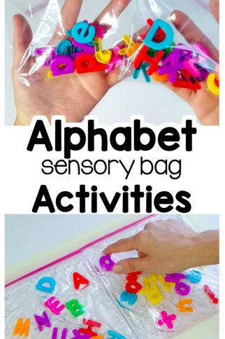Preschool Letter Recognition Sensory Bag