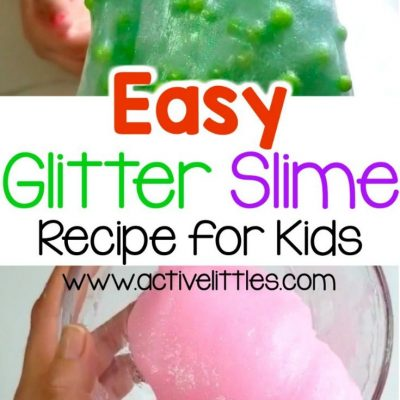 easy glitter slime recipe for kids
