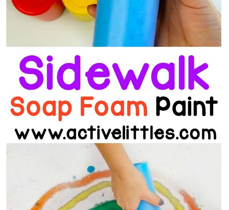 DIY Soap Foam Sidewalk Paint
