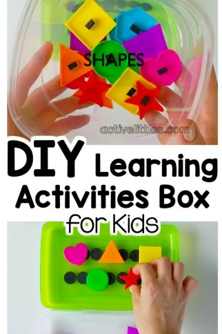 DIY Learning Activities Box for Preschool and Kindergarten