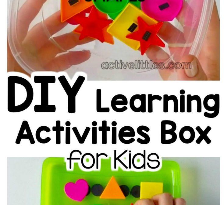 DIY Learning Activities Box for Preschool and Kindergarten