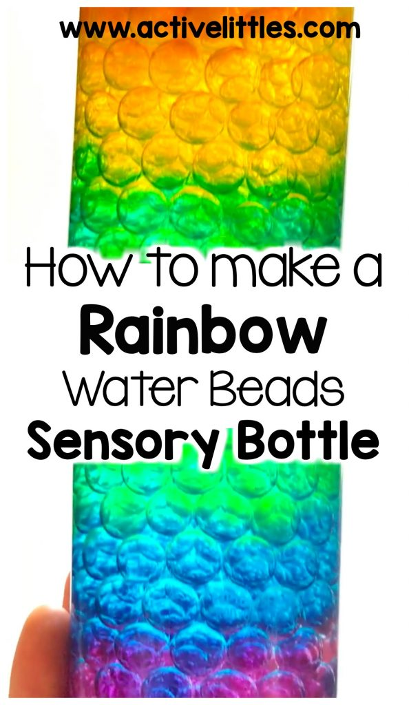 diy rainbow sensory bottle for kids