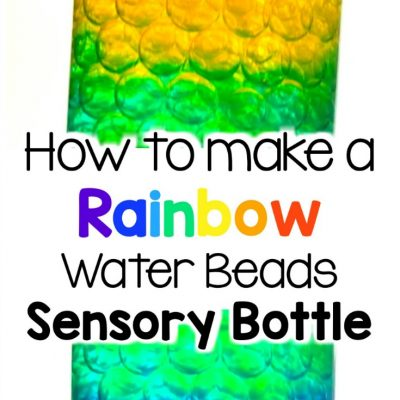 diy rainbow sensory bottles for babies