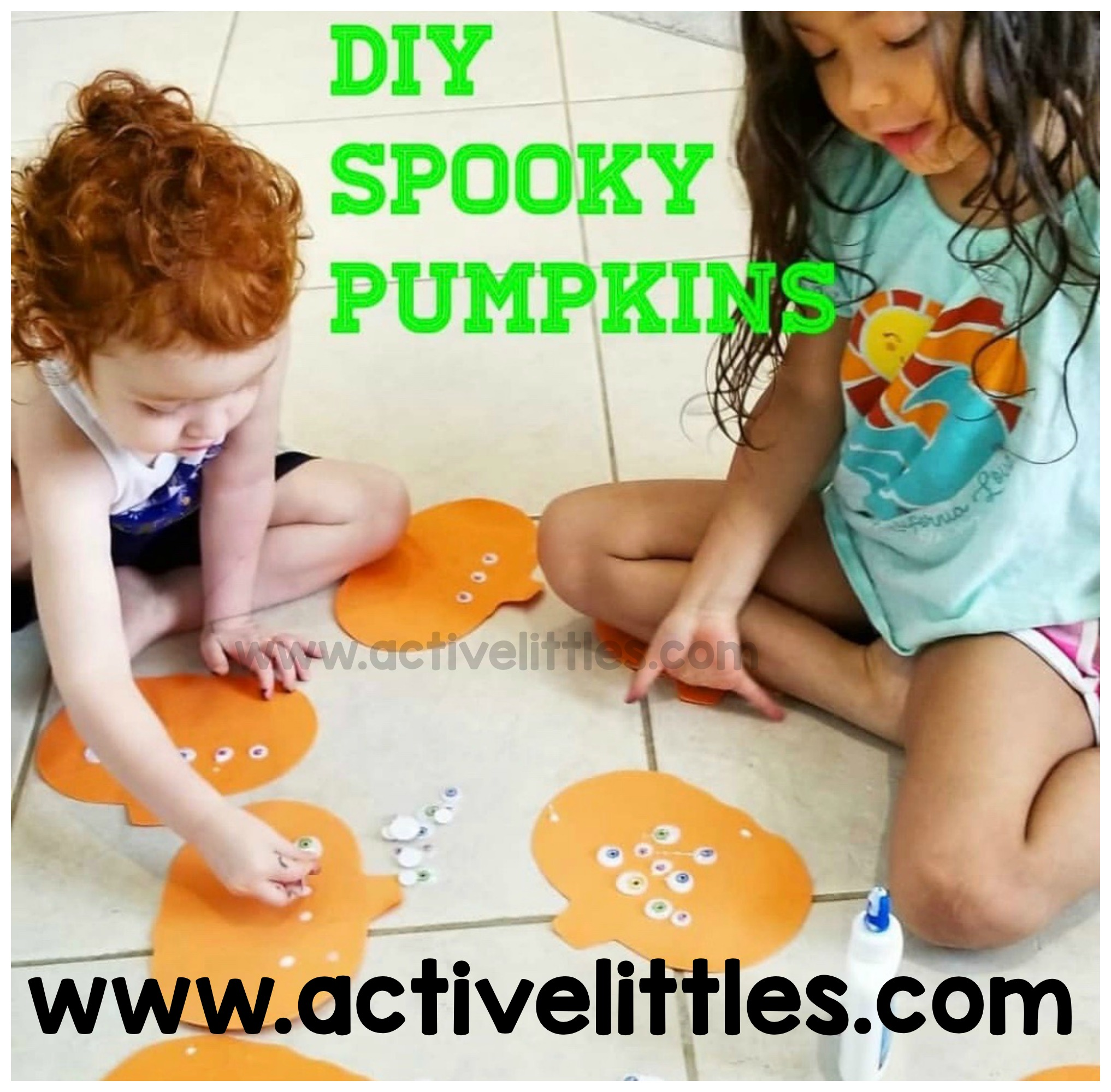 diy spooky pumpkins craft for kids