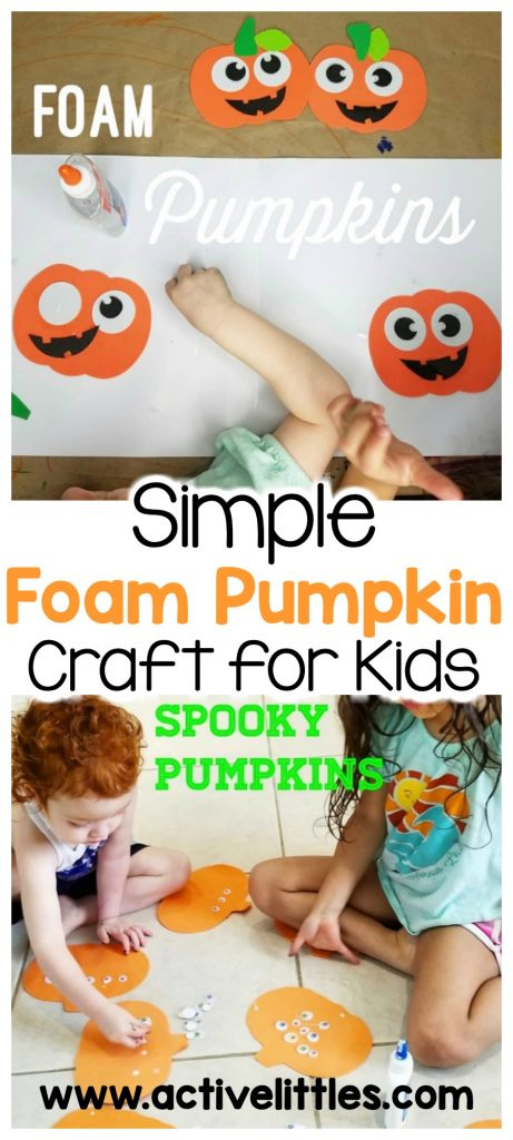 easy foam pumpkin craft for kids