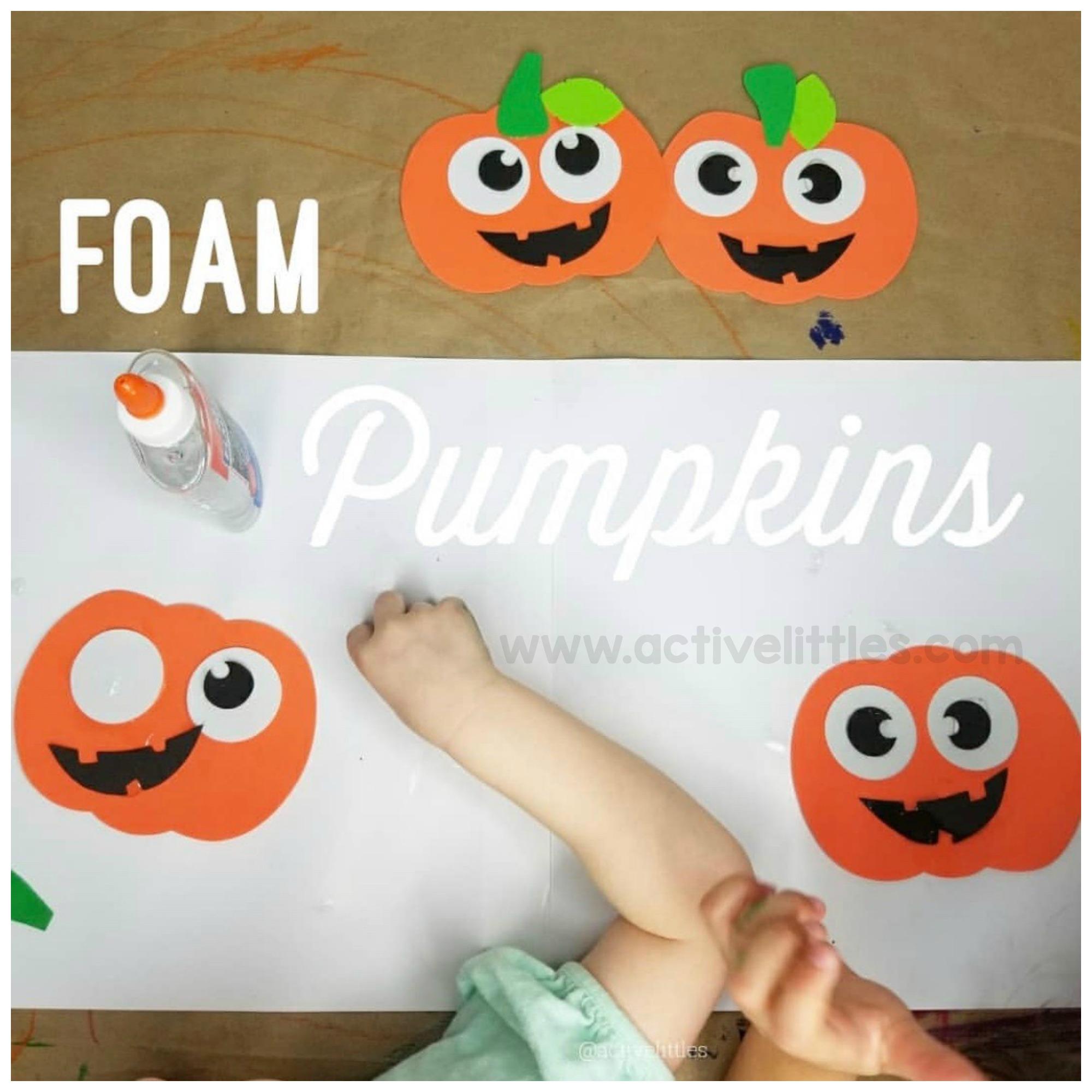 foam pumpkins activelittles.com