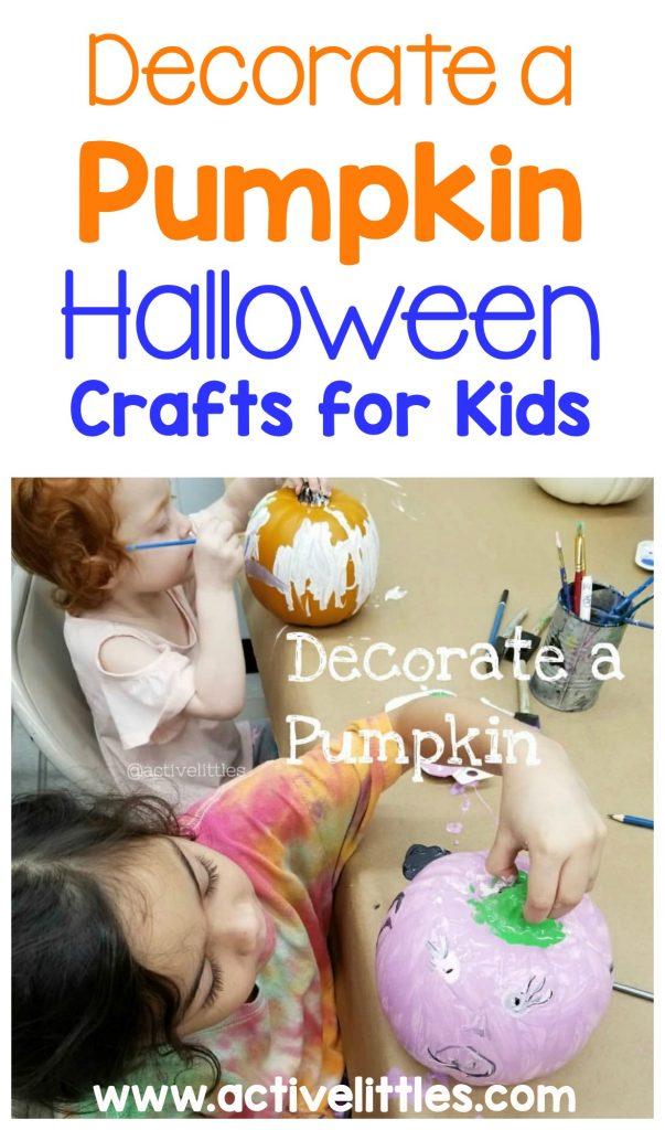 halloween crafts for kids decorate a pumpkin