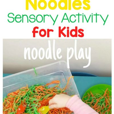 halloween noodles sensory activity for kids and toddlers